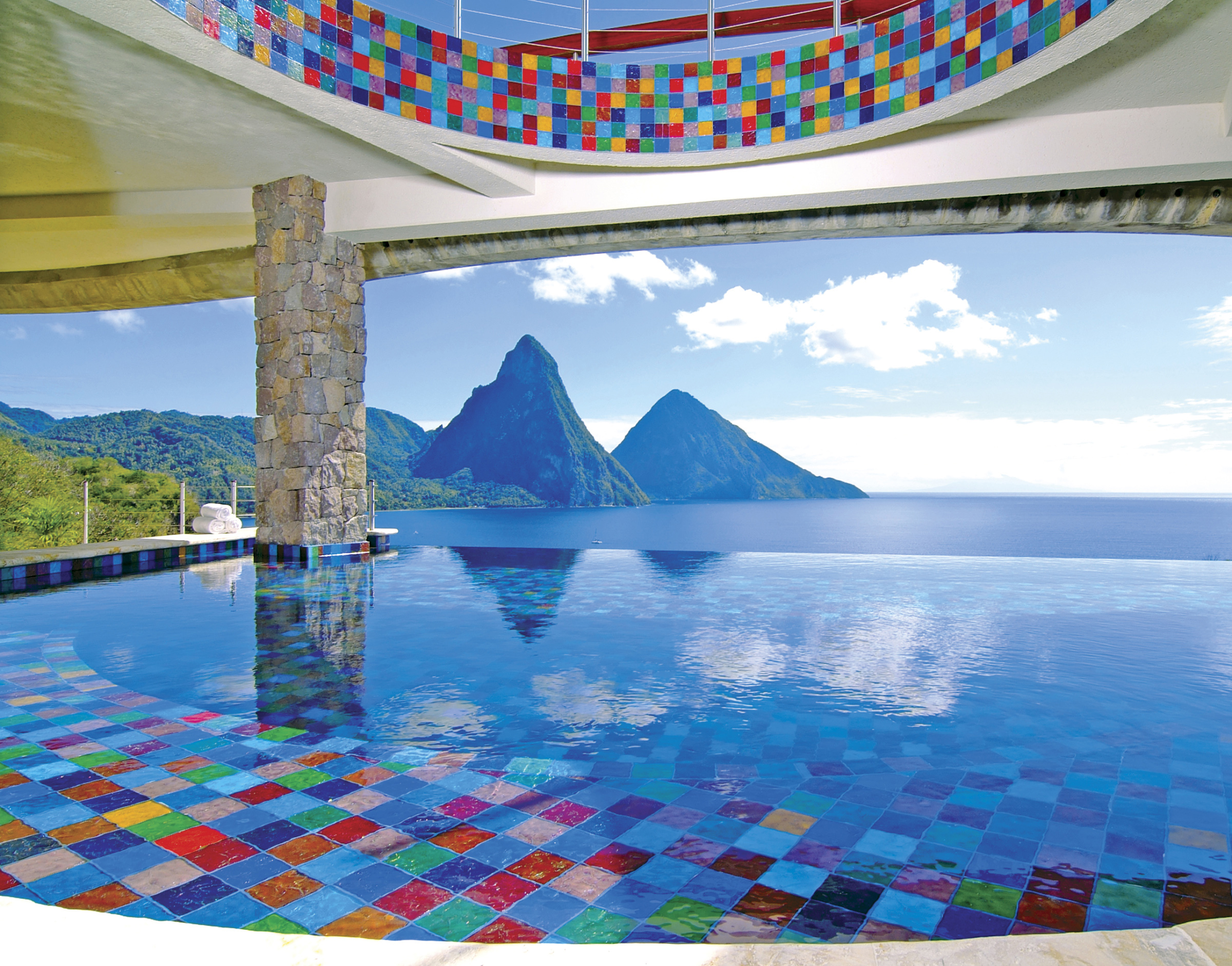 hotel review jade mountain st lucia the luxury travel expert. Black Bedroom Furniture Sets. Home Design Ideas