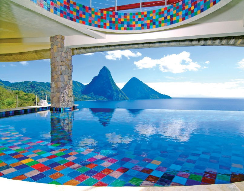 JADE MOUNTAIN - INFINITY POOL AT CLUB RESTAURANT
