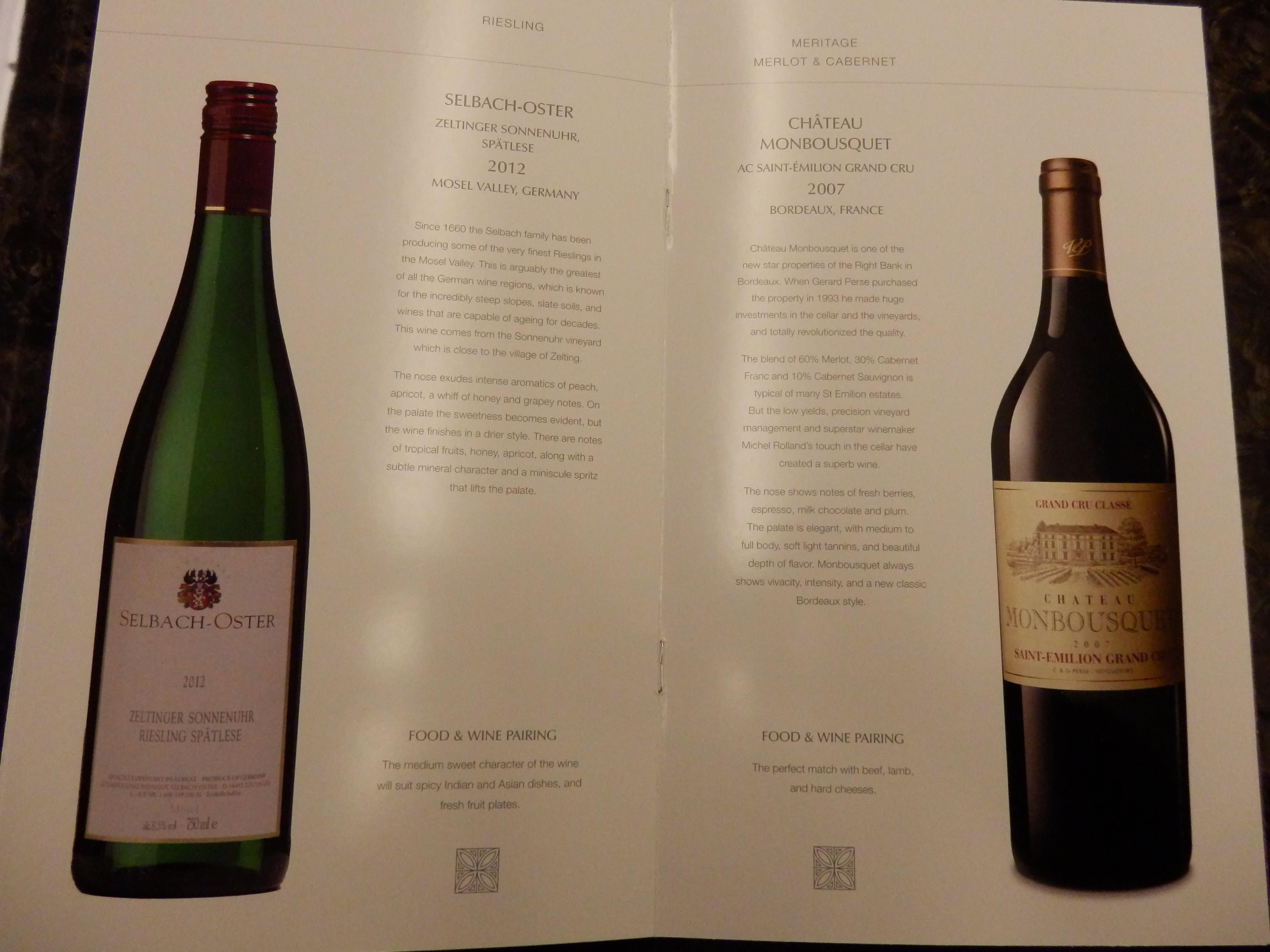 Wine List The Luxury Travel Expert