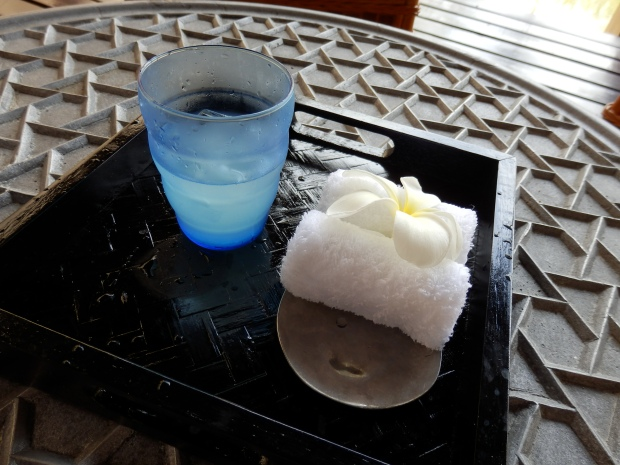 WELCOME DRINK AND COLD TOWEL