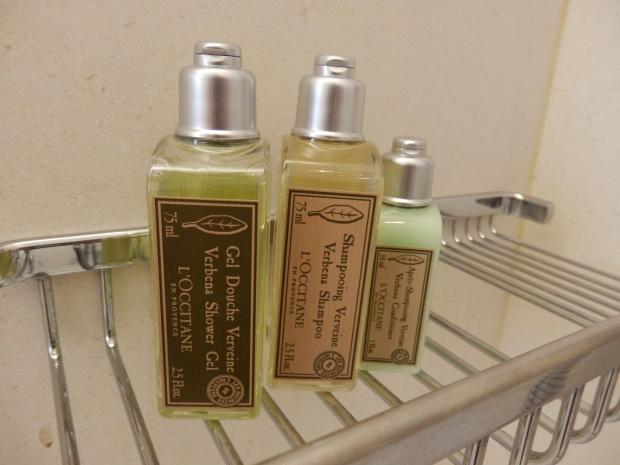 L'OCCIPITANE TOILETRIES IN BATHROOM