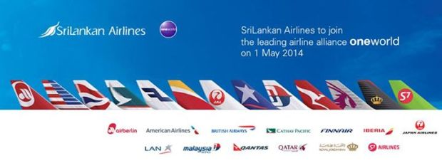 SRILANKAN AIRLINES JOINS ONEWORLD