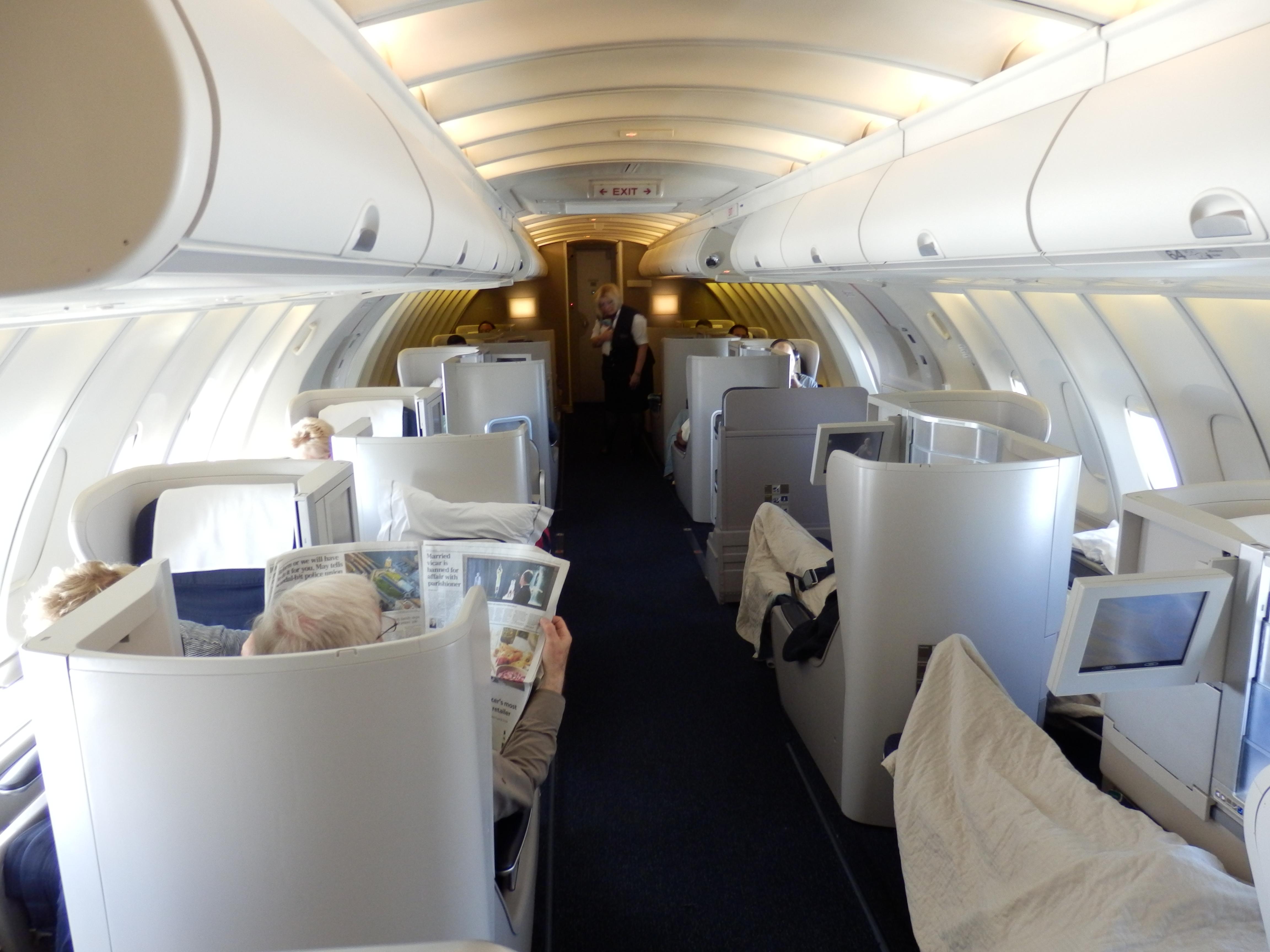 British Airways B747 Business Class Lhr Sfo Upper Cabin