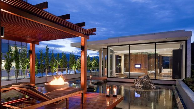 OWNER'S SUITE TERRACE WITH FIRE PIT