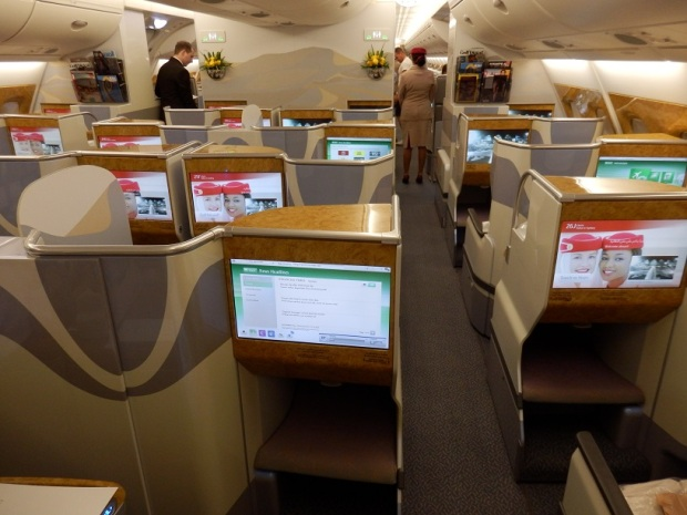 BUSINESS CLASS CABIN - SMALLEST CABIN DURING BOARDING