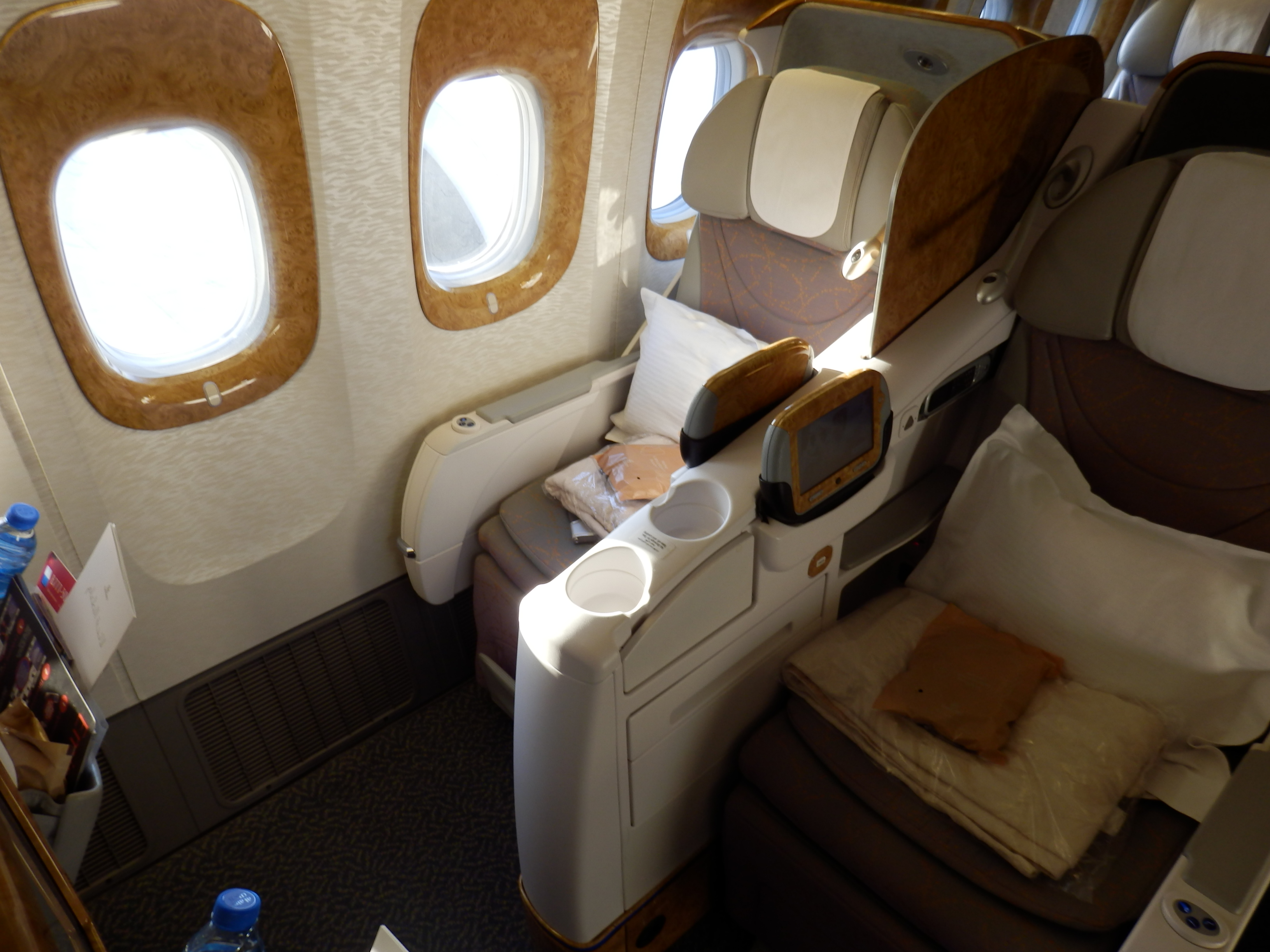 Emirates B777 300er Business Class Dubai To Brussels The