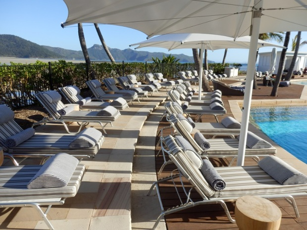SUN LOUNGERS AT HAYMAN POOL