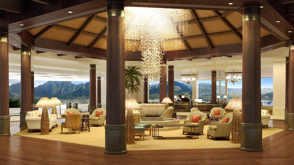Top 10 most amazing hotel lobbies in the world the for Best boutique hotels kauai