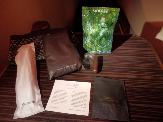 BRUSSELS TO ABU DHABI: AMENITY KIT