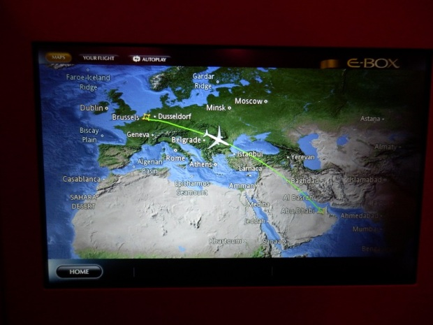 BRUSSELS TO ABU DHABI: FLIGHT PATH