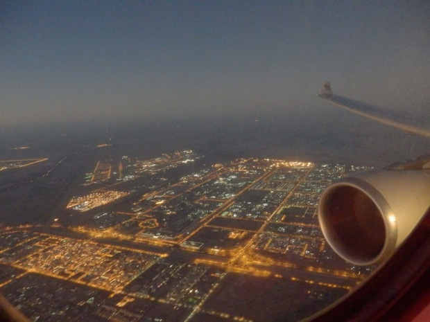 LANDING AT ABU DHABI
