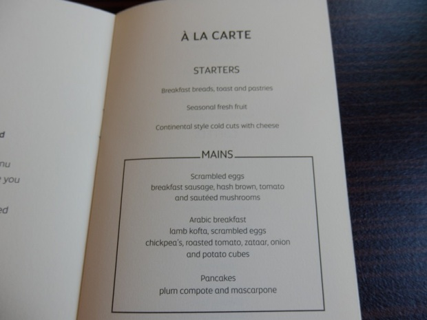 MENU ABU DHABI TO MALE