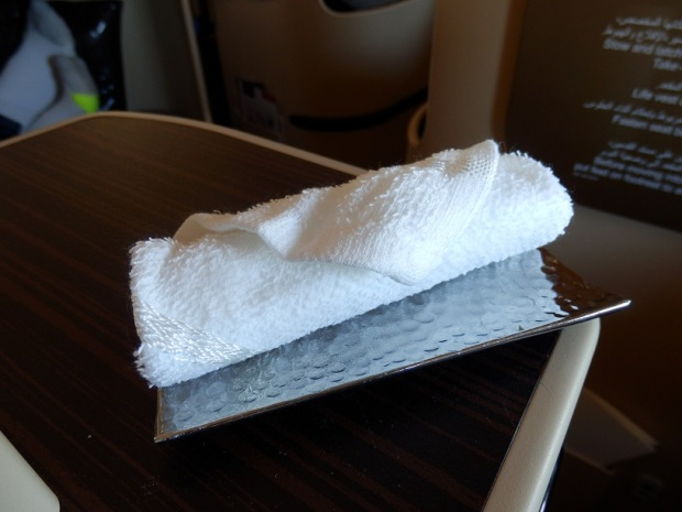 ABU DHABI TO MALE: HOT TOWEL