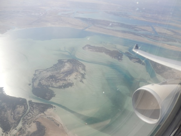 ABU DHABI TO MALE: VIEW AFTER TAKE-OFF FROM ABU DHABI