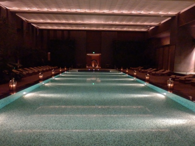 INDOOR SWIMMING POOL: AT NIGHT