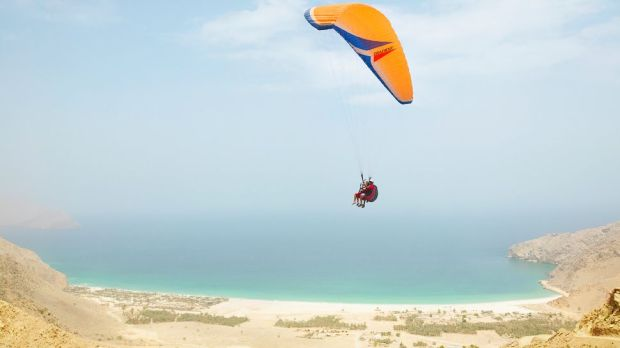 ARRIVE BY PARASAIL AT SIX SENSES ZIGH BAY, OMAN