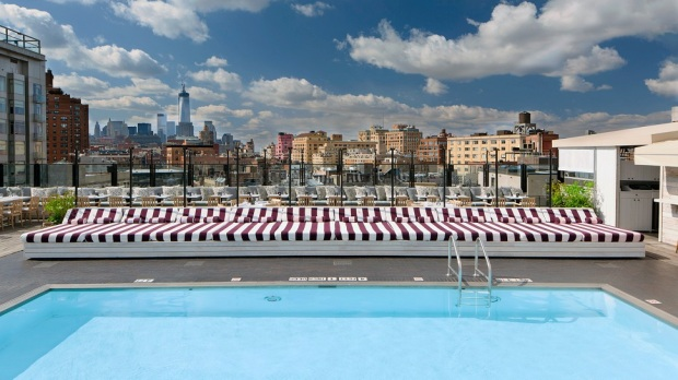 ROOFTOP OF THE SOHO HOUSE NEW YORK