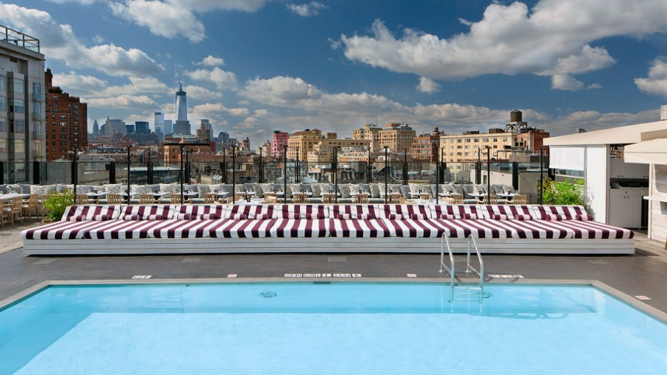 9. ROOFTOP OF THE SOHO HOUSE NEW YORK