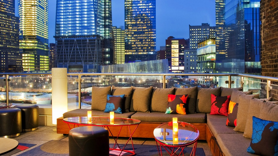 Top 10 best rooftop bars in new york city the luxury for W hotel in room dining menu