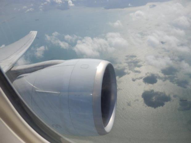 VIEW OF ENGINE AFTER TAKEOFF