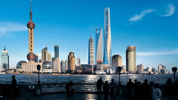 SHANGHAI TOWER (ON THE RIGHT SIDE OF THE PHOTO)
