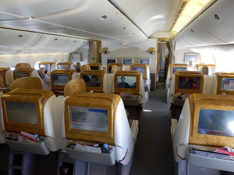 Emirates B777 200lr Business Class Brussels To Dubai The