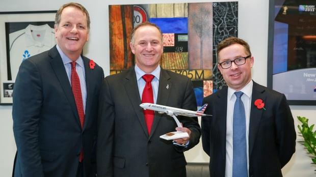 AA CEO DOUG PARKER, NEW ZEALAND PRIME MINSTER JOHN KEY, AND QANTAS CEO ALAN JOYCE