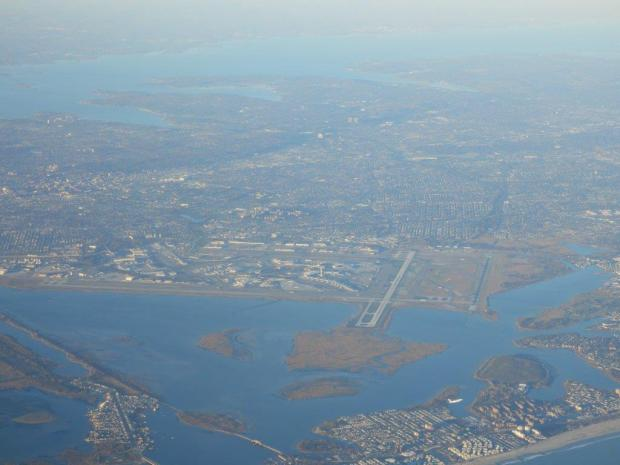 LANDING IN NY: VIEW OF JFK AIRPORT