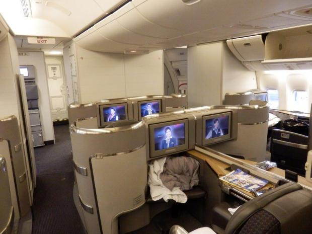 FIRST CLASS CABIN (AFTER COMPLETION OF THE FLIGHT)