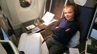 VIKTOR IN THE BRUSSELS AIRLINES A330 BUSINESS CLASS ON THE WAY BACK HOME