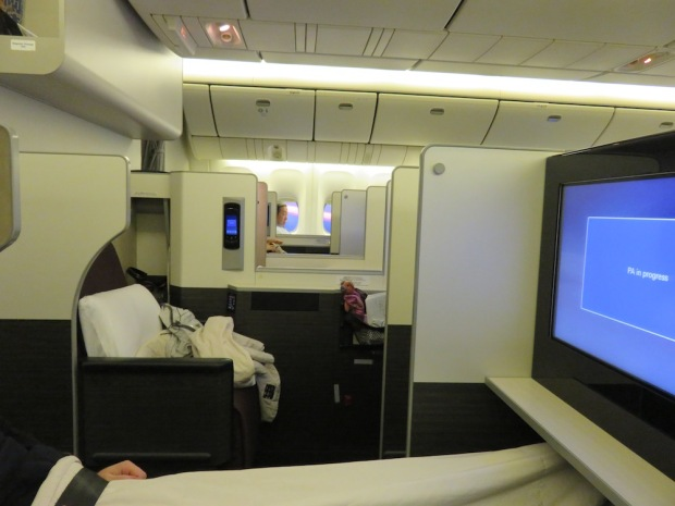 BUSINESS CLASS CABIN (AFTER TAKEOFF)