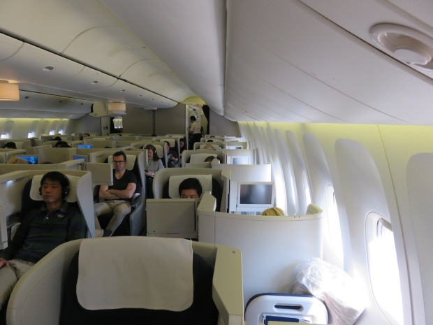 BUSINESS CLASS CABIN (BEFORE TAKEOFF)