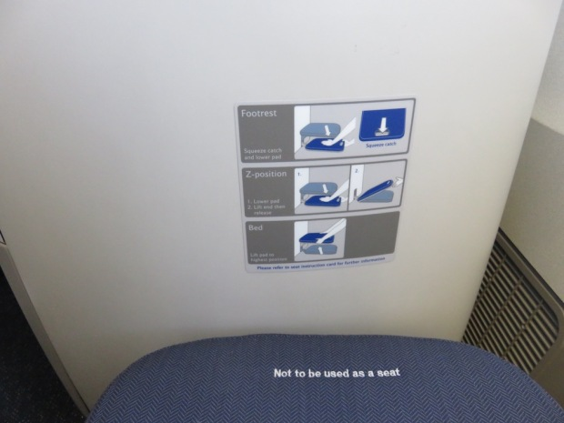 BUSINESS CLASS SEAT: FOOTREST