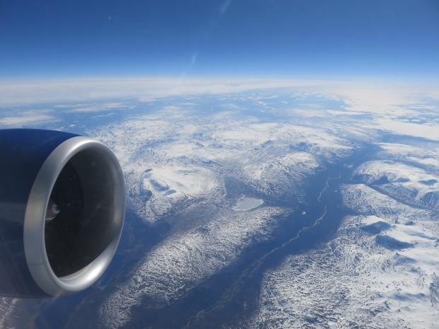 FLIGHT PATH: SCENERY ABOVE NORTHERN NORWAY