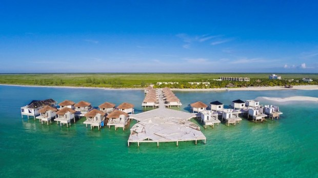 OVERWATER BUNGALOWS AT AL DORADO MAROMA