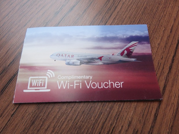 QATAR AIRWAYS - COMPLIMENTARY WIFI