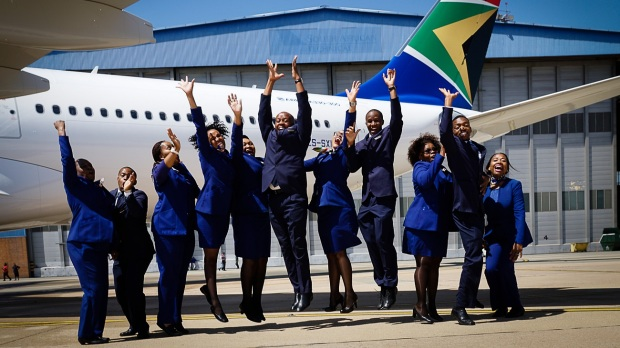 SOUTH AFRICAN AIRWAYS' FIRST A330-300 ARRIVES