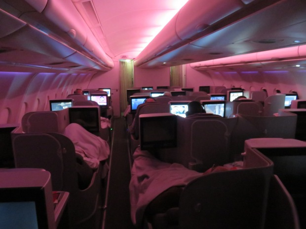 BUSINESS CLASS CABIN (AFTER DINNER SERVICE)