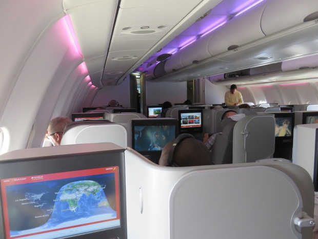 BUSINESS CLASS CABIN (BEFORE LANDING)